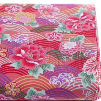 Tela algodón Seigaha Rosa